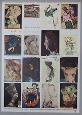 Horst Janssen Dies ist der dritte Postkartenbogen Offsetdruck 1973 handsigniert