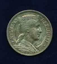 LATVIA  1931  5 LATI  SILVER  COIN   ALMOST UNCIRCULATED+