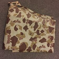 USMC US MARINE CORPS WW2 DUCK HUNTER CAMO PONCHO -- 1944 DATE MINT UNISSUED RARE