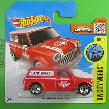 Hot wheels 2016 -'67 Austin Mini van-HW CITY works - 175-NEUF dans emballage d'origine
