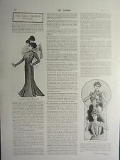 1900 VICTORIAN PRINT ~ WELL-DRESSED WOMAN ~ EMPIRE COATS PRETTY BLOUSES