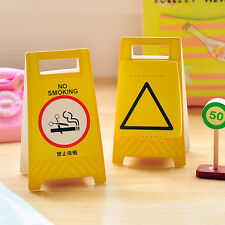 1pc Warning Sign Funny Sticker Post it  Bookmark Memo Sticky Note Pad Flags