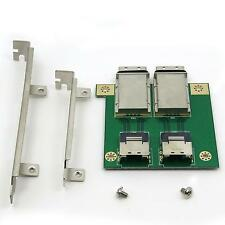 Deconn Dual MINI SAS 26P SFF-8087 to SFF-8088 PCI Internal Adapter Bracket