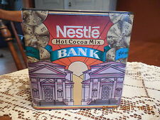 Vintage Nestle Hot Cocoa Tin-Piggy Bank/Slotted Lid-Advertising