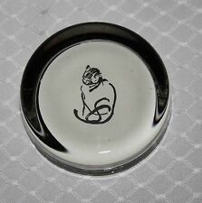 Cat Glass Paperweight - Custom Made - Artist Calligraphy Drawing - $65 Retail