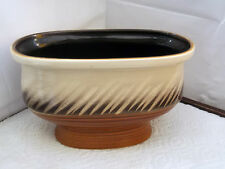 SMALL  OVAL SYLVAC BOWL / PLANTER IN BROWN, GREY AND CREAM WITH STICKER 4595