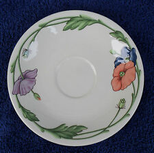 VILLEROY & BOCH AMAPOLA SAUCER BLUE PURPLE & ORANGE POPPIES GERMANY 1981-2001