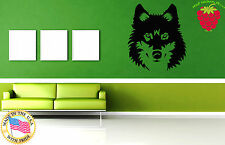 Wall Stickers Vinyl Decal Wild Animal Tribal Wolf Predator  Decor Mural  ig047