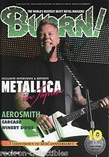 Burrn! Heavy Metal Magazine October 2013 Japan Metallica Iron Maiden Steve Vai