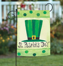 NEW Toland - St. Pat's Hat - Green Patrick Day Dot Garden Flag