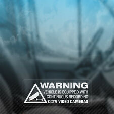3x WARNING RECORDING CCTV ON BOARD Dashcam Security Car,Van,Window Decal Sticker