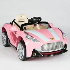Maserati Style 12V Kids Ride On Car Electric Power Wheels Remote Control Pink
