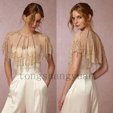 Luxury Beading Wedding Jackets For Bride Cover Up Bridal Boleros Wrap Custom New