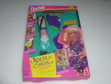 NEW BARBIE ACTIVITIES JEWEL & GLITTER SILVER 1994 MATTEL REVERSIBLE FASHION NIB