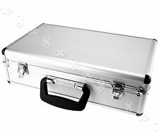 Aluminum FLIGHT CASE For Microphone Camera Silver 400 x 240 x 125mm Foam Insert