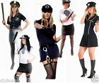 Ladies Police Fancy Dress Halloween Costume Sexy Cop Outfit Woman Size S M L XL