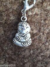 """Baby Flower SNAKE Tibetan Silver Charm Bookmark Bracelet 3D 1/2 x 3/4"""""""