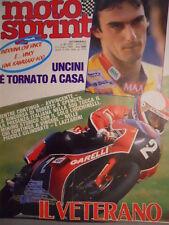 Motosprint 27 1983 Franco Uncini - Test Peugeot TLX 125 -  [SC.31]