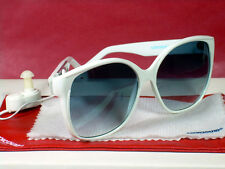 Women's Retro Vintage Style Portable AM/FM IC Radio Fashion Sunglasses WHITE/NEW