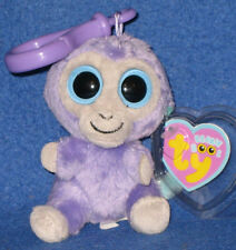 TY BEANIE BOOS - BLUEBERRY the MONKEY KEY CLIP - MINT with MINT TAGS