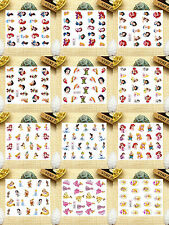 12 Sheets Nail Art Water Transfer Decal Stickers Princess SY1533-1544