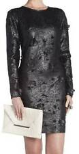 NWT BCBG MAXAZRIA JILLEA EMBROIDERED CUTOUT FAUX-LEATHER DRESS 4