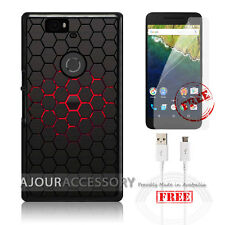 Google Nexus 6P Case Cover & Screen Protector A3351 Cell Abstract