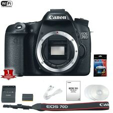 Canon EOS 70D DSLR Camera Body Only 20.2 MP w/ Screen Protector