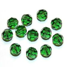 SCR5146f DARK MOSS GREEN 8mm Faceted (5000) Round Swarovski Crystal Beads 12pkg