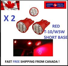 2X RED Xenon LED T10 8SMD/5050/194Bulbs Cluster W5W license Plate Short Base