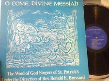 LP O Come Divine Messiah The Word of God Singers St. Patrick's Providence RI