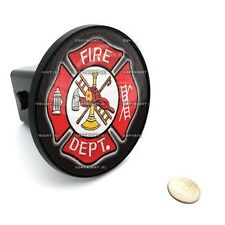 "2"" Tow Hitch Receiver Cover Insert Plug for Most Truck & SUV - FIRE FIGHTER DEPT"