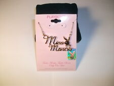PLAYBOY TM MISS March Aquamarine birthstone GoldTone NECKLACE