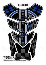 BMW Black Blue Universal Motorcycle Tank Pad Tankpad Motografix 3D Gel Protector