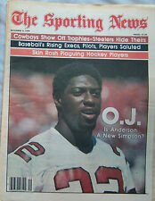 OJ ANDERSON CARDINALS 1979 SPORTING NEWS NO LABEL