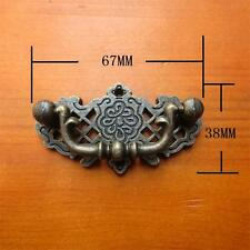 Lot of 6 VTG antique door drawer Handle pull drop furniture cabinet decor Bronze