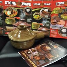 Stone Wave Microwave Cooker as seen on TV Non Stick! Hand-Made Ceramic Stoneware