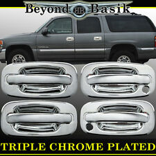 1999-2006 CHEVY SILVERADO/GMC SIERRA Chrome Door Handle Cover 4dr With Psgr Key