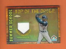 2002 TOPPS CHROME SUMMER SCHOOL SHANNON STEWART GAME-USED JERSEY #TOC-SS