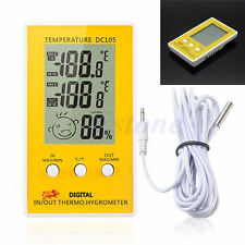 LCD Digital Thermometer Hygrometer DC105 indoor Outdoor Humidity Meter Thermo