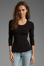 Bailey 44 Women's Beauty is Truth Top Woven back cut out black top in SM