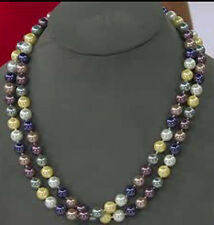 """NEW Kenneth Jay Lane KJL 44"""" Presidential Multi Color Simulated Pearl Necklace"""