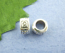 80Pcs Silver Tone Ornate Ring Spacer Beads 4x7mm