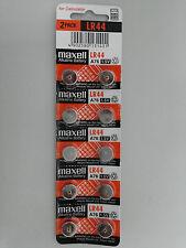 Maxell LR44 A76 303 357 L1154 AG13 SR44 Alkaline Battery x10pcs Exp 12-2019 TM