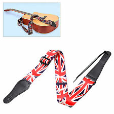 Guitar Strap For Acoustic Electric Guitar Bass PU Leather GB UK Flag Pattern