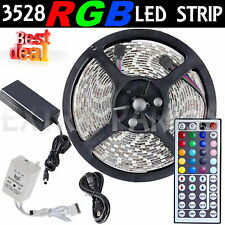 5M/16.4Ft 300 LED SMD 3528 RGB IR44 Light Strip with IR Remote w/ Power Supply