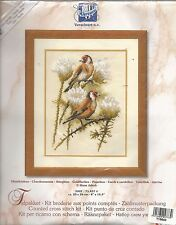 """""""GOLDFINCHES"""" Pair with Thistle - Counted X-Stitch Kit - Vervaco, Belgium"""