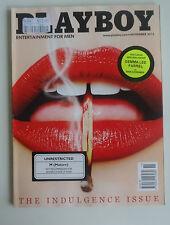 Playboy Mens Magazine *November 2013 *The Indulgence Issue