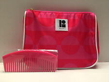 Brand New! Estee Lauder  Cosmetic Makeup Bag Design by Lisa Perry with Comb