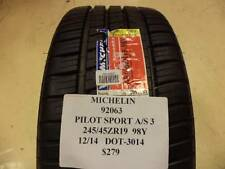 2 MICHELIN PILOT SPORT A/S 3  245 45 19 98Y BRAND NEW PAIR 92063